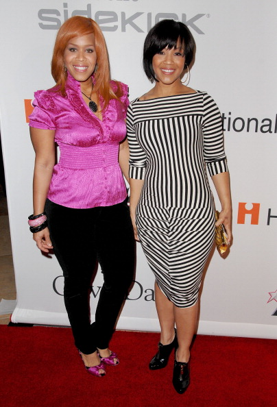 Tina Campbell with sister Erica In 2009