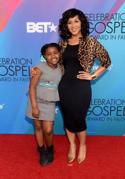 Erica Campbell with daughter Krista Campbell