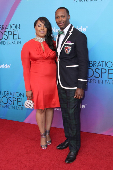 Micah Stampley and wife Heidi