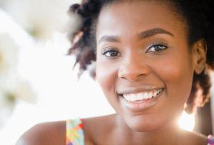 A pretty, smiling woman