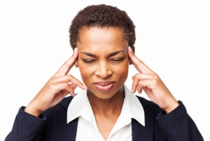 A businesswoman With a Severe Headache