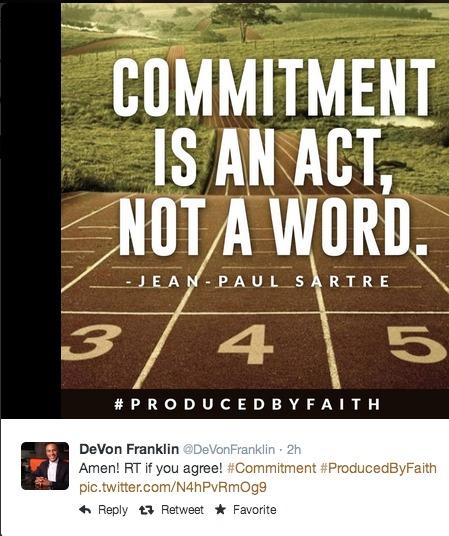 DeVon Franklin tweet