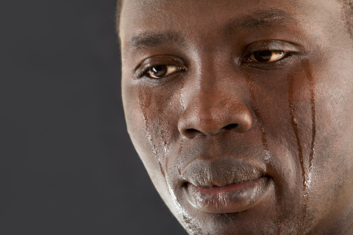 african american crying