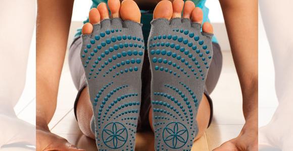 Gaiam Toeless Yoga Socks, $9.98