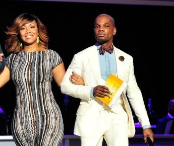 Erica and Kirk Franklin