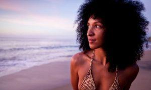 Black woman at the beach