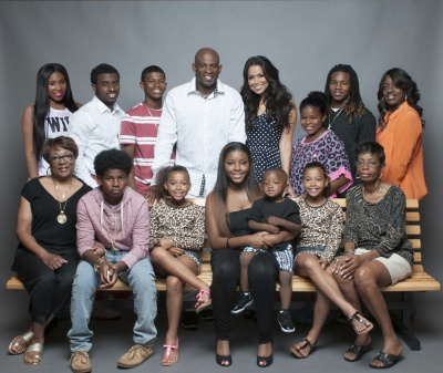 DEION SANDERS AND FAMILY