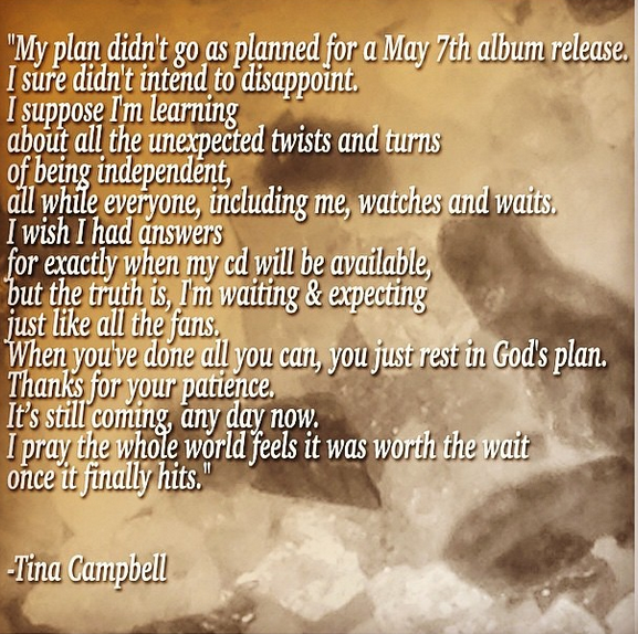Tina Campbell Apologizes