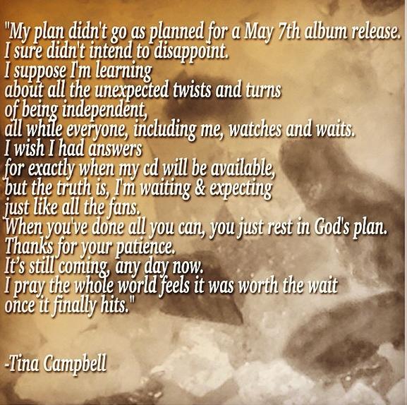Tina Campbell Apologizes