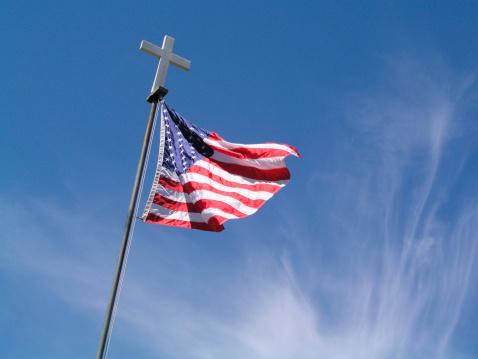 Flag and Cross