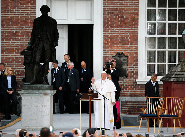 Pope Francis Independence Hall