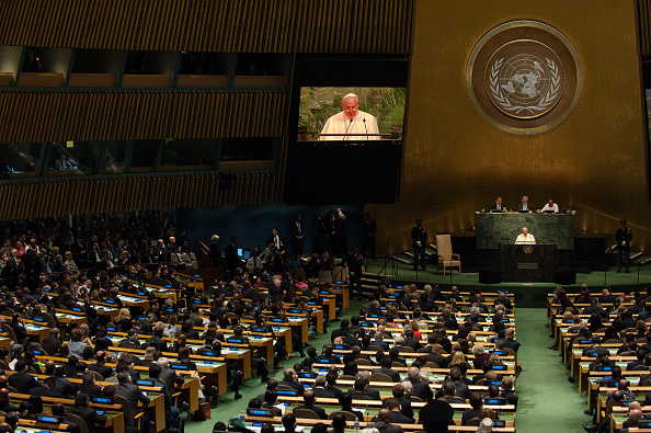 Pope Francis Speaking To UN