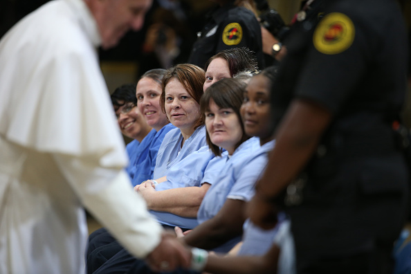 Pope Francis Talks With Prisoners In Philadelphia
