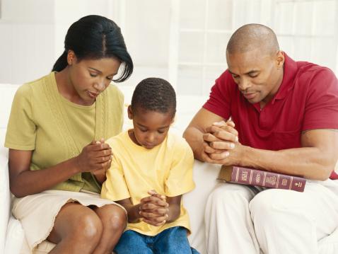 Black Family Praying
